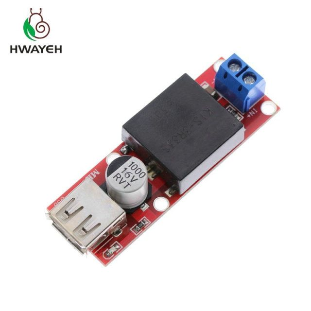 1Pcs 5V USB Output Converter DC 7V-24V To 5V 3A Step Down Buck KIS3R33S Module KIS-3R33S DropShipping30488