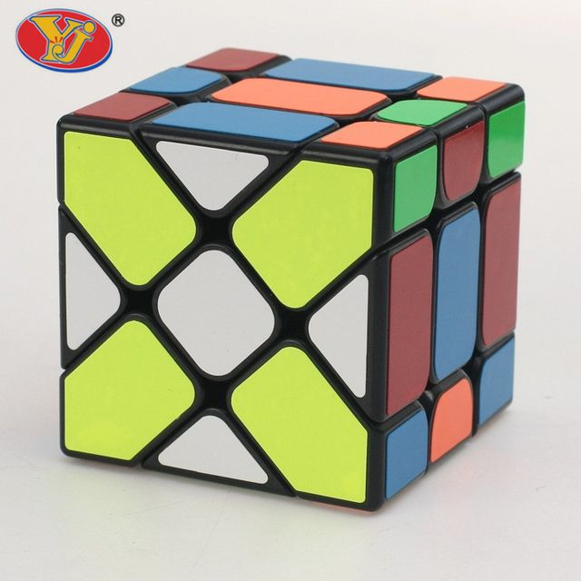 3x3x3 Yongjun Square King Fisher Magic Cubes YJ Skew Plastic Speed Magic Cube Puzzle Cubes Learning & Educational Toys for Kids