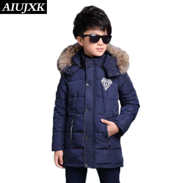 New Fashion Boys Winter Coats Warm Thickening Coat -30 Degree Children'S Winter Cotton Clothing OUMU301
