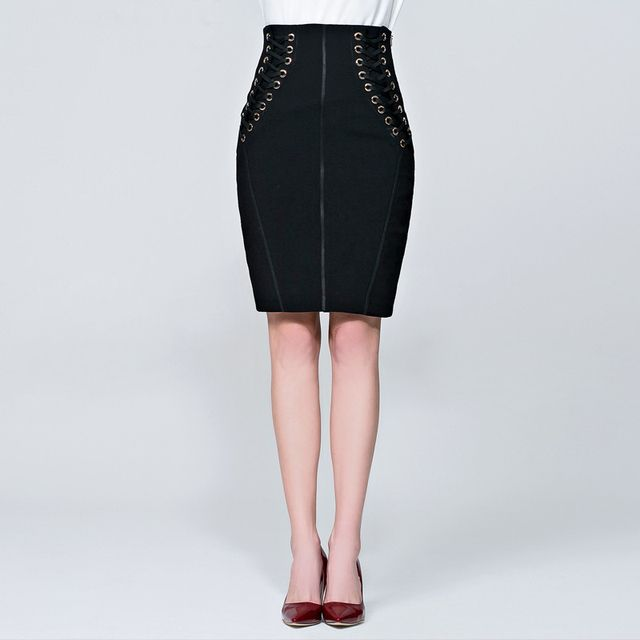 2017 high quality new autumn fashion OL high waist slim sexy slim short skirt women's clothing SPY6235