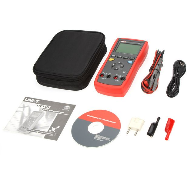 UNI-T UT713 Digital Thermocouple Calibrator Process Calibrator Tester Meter w/USB Interface