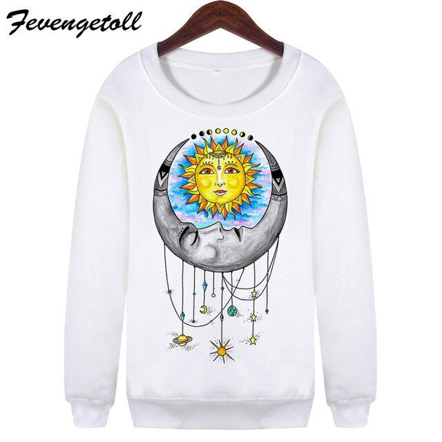New 2017 Vintage Long Sleeve Moletom Sweatshirts White Harajuku Universal Love Crew Neck Hoodies Pullovers Plus Size WMH94