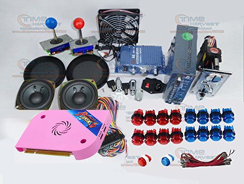 Arcade parts Bundles kit With Pandora Box 6 upgrade version VGA & HDMI output Joystick LED Buttons for Arcade Cabinet Machine