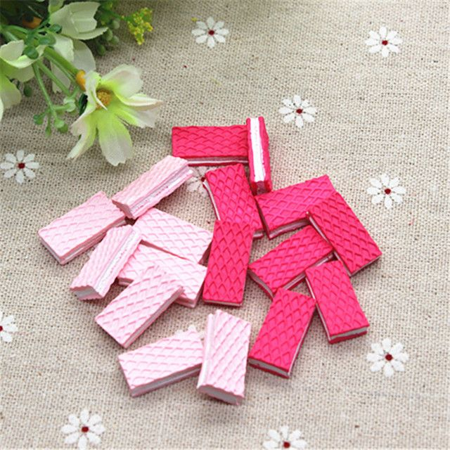 10pcs Kawaii Fake Wafer Biscuit Resin Miniature Food Art Flatback Cabochon DIY Decorative Craft Scrapbooking,10*21mm