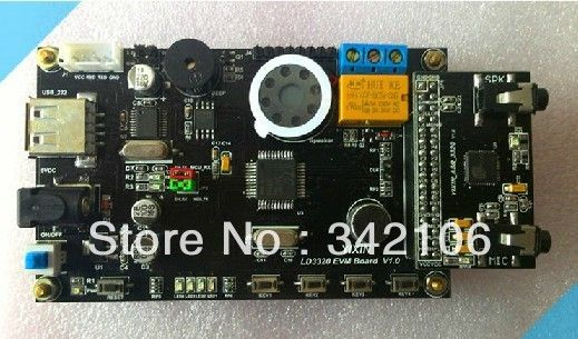 Free Shipping!!!  LD3320 voice module chip ASR-independent speech recognition (STC/51 MCU) development board