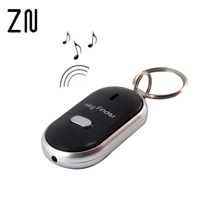 10pcs Hot Sale Colorful LED Key Finder Locator Find Lost Keys Chain Keychain Whistle Sound Control