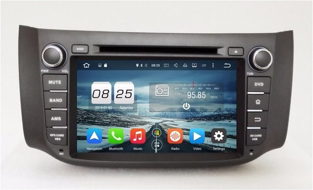 "Octa Core 2 din 8"" Android 6.0 Car Radio DVD GPS for Nissan SYLPHY B17 Sentra With 2GB RAM Bluetooth WIFI 32GB ROM Mirror-link"