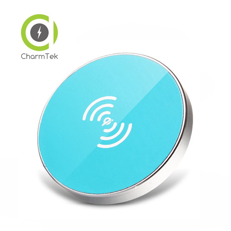 CharmTek New Qi Wireless Charging Charger Pad With Voice Indicator For Samsung S6 Edge Nexus 5 6 Yotaphone 2