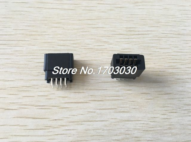 50 Pcs 2.54mm Pitch IDC Type Card Edge Plug Pins Connector 8 Pins