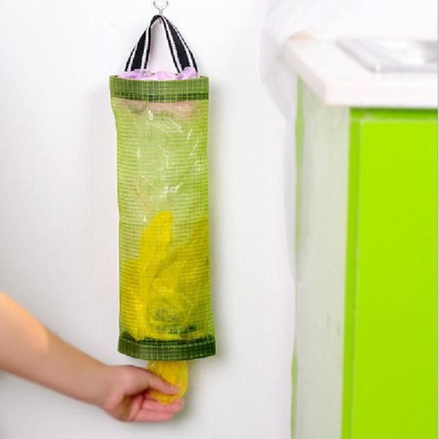 High quality Home Grocery Bag Holder Wall Mount Storage Dispenser Plastic Kitchen Organizer Garbage Bag Storage Bag