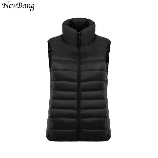Multicolor Ultra Light Down Women's Vest Sleeveless White Duck Down Vest Women Stand Collar Warm Vests S-XXXL chalecos mujer