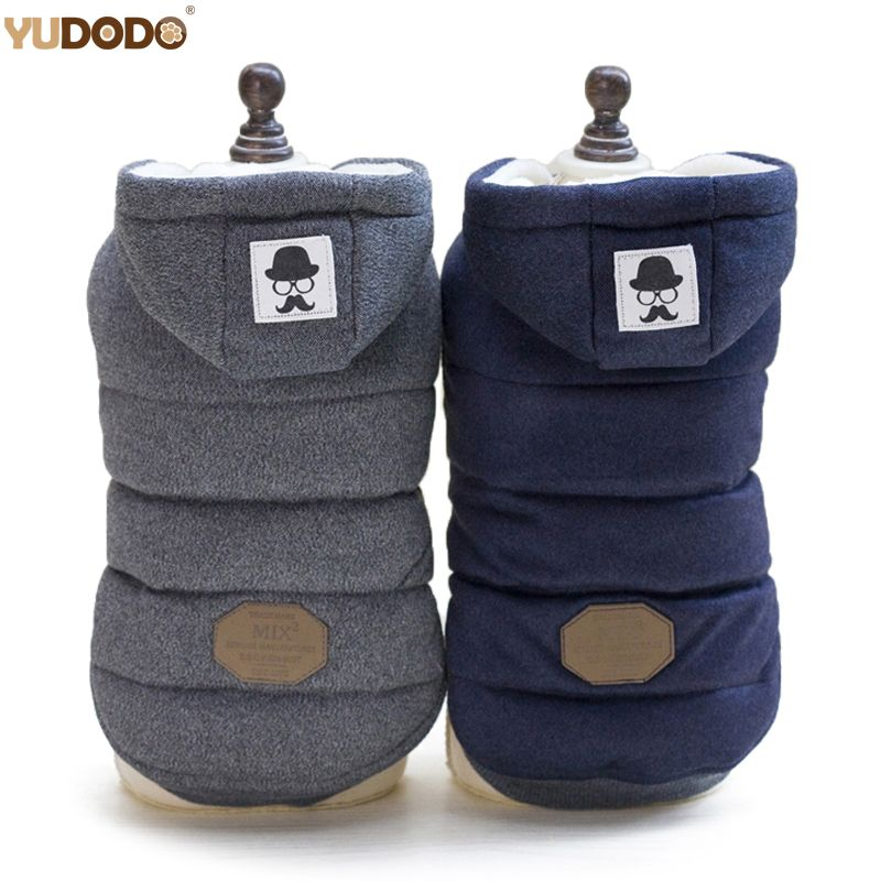 Winter Warm Pet Dog Clothes Hooded Thick Cotton Cat Puppy Dogs Coat Jackets S-XXL