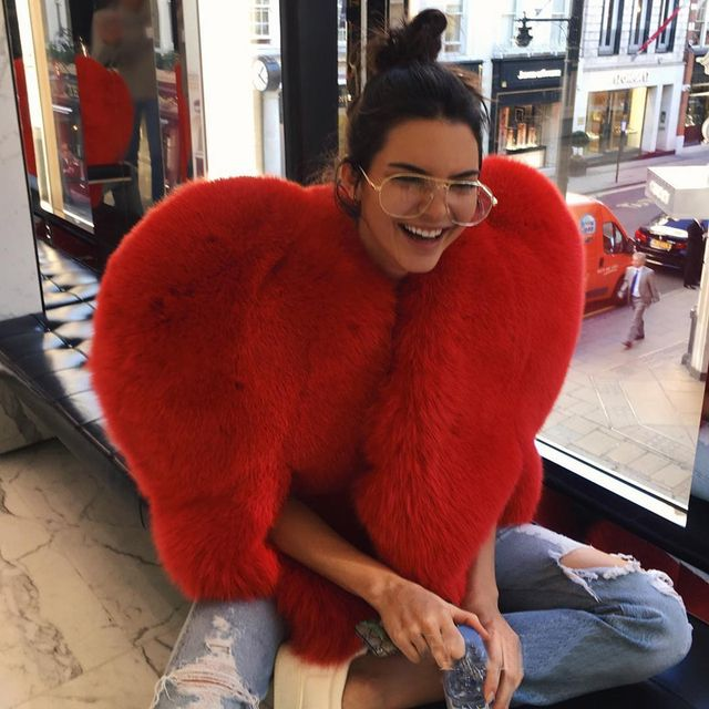 3D Red Love Heart Faux Fur Jacket For Women Rihanna Fashion Love Imitation Coats Winter Fox Fur Thick Warm Furry Coat SWQ0285-4