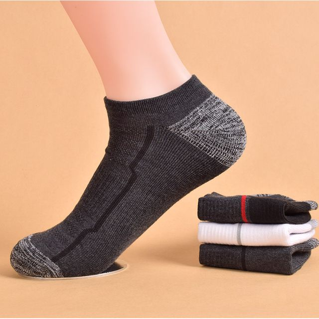 5 pairs/lot Fashion Men's Casual Boat Socks Invisible No Show Nonslip Compression Low Cut Breathable Sock Slippers Free Shipping