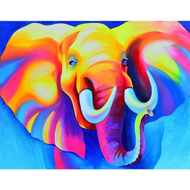 Kai Ping Mei Park 5D DIY Diamond Embroidery 3D Diamonds mosaic  Animal Big Elephant rhinestone Pictures Home Decoration YC122