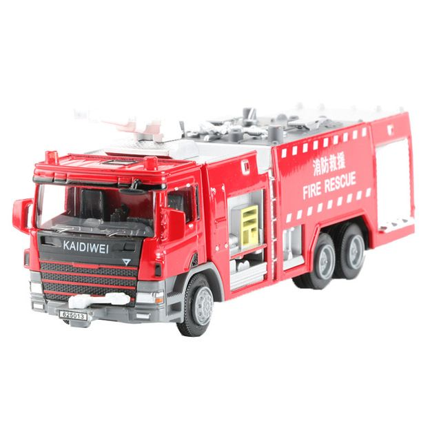 1:50 Alloy KDW Water Fire Engine Car Model Toy Fire Rescue Vehicle Toys For Collection Kids Boys