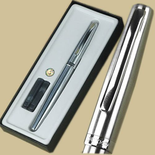 Duke 209 silver M nib fountain pen with  original box Free Shipping