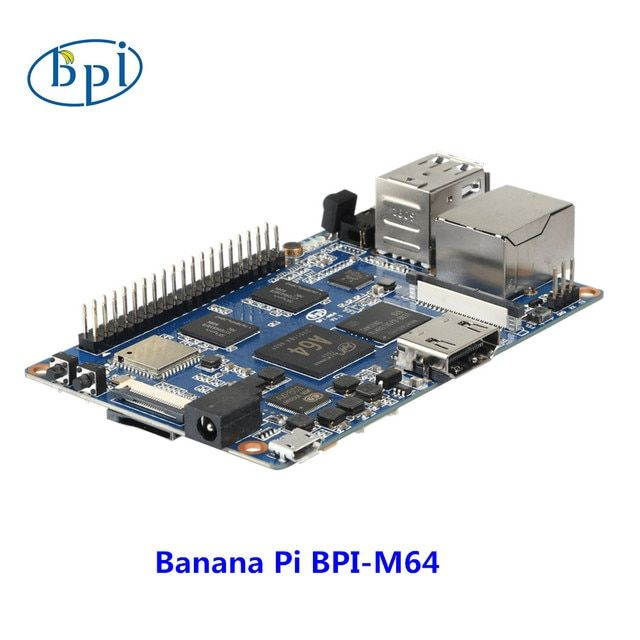 64-bit Quad-core mini single board computer BPI-M64 Banana Pi Board