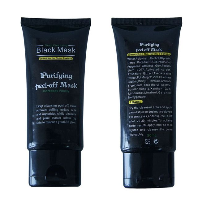 50ml Blackhead Remover Deep Cleansing Purifying Peel Off Acne Black Mud Face Mask YT2