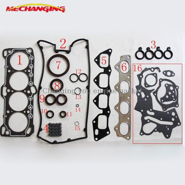 Fit CHRYSLER GALANT TURBO 16V (Canada)  Engine Head Gasket Sets 4G63 4G63T CAR Automotive Spare Parts Overhaul Package MD997474