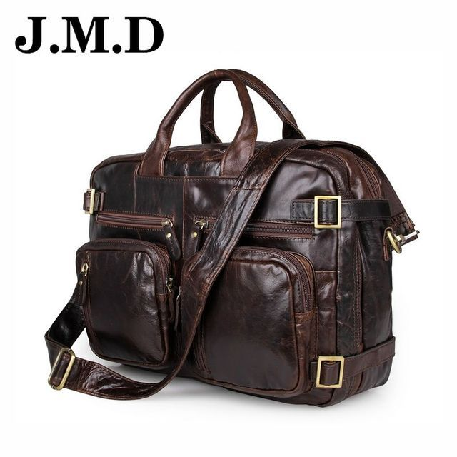 JMD 2017 Hot sale casual Business men leather handbag multifunction Brand 100% Genuine Leather Bag Messenger bag Travel JD011