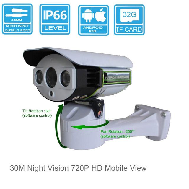 Pan Tilt Security IP Camera  Waterproof 3MP HD Lens 720P Outdoor Surveillance SSTC  System PTZ Mini Cam outdoor with Audio