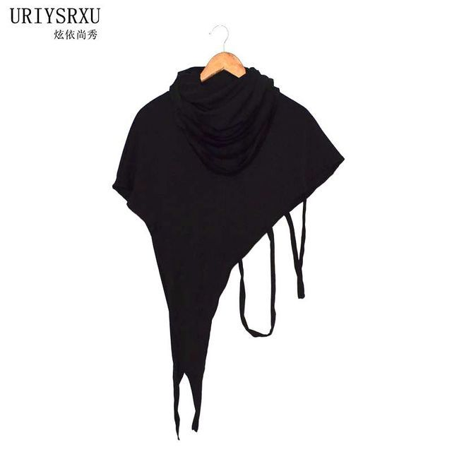 Fashionable man cloak shawl unlined upper garment Unique individual character design High collar asymmetric shawl