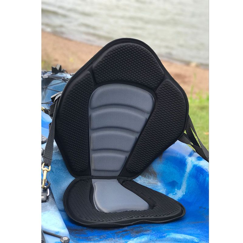 WHITBYS Kayak Seat Padded Deluxe Canoe Seat Adjustable Boat Seat Cushioned Fishing Seat Comfortable Backrest for Kayak Canoes