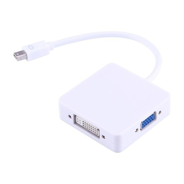 VBESTLIFE 3 In 1 Mini DP To DVI VGA HDMI Cable Adapter 1080P Mini Display Port HMDI Cable Converter For MacBook Air Pro iMac Mac