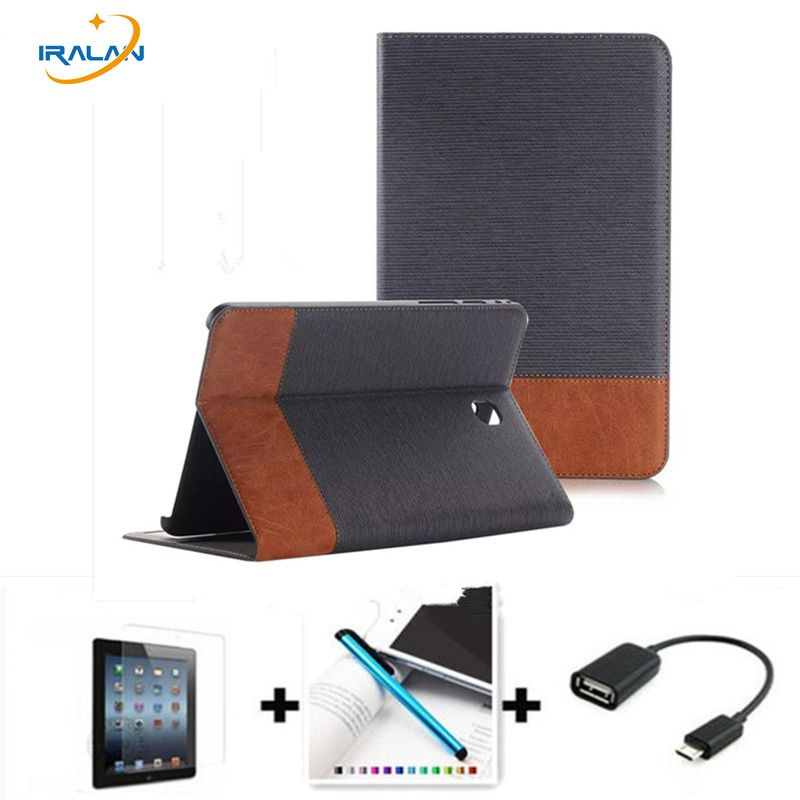 2018 new luxury Jeans Wallet leather case For Samsung Galaxy Tab S2 9.7 T810 T815 9.7 inch and Smart Stand Tablet Cover 4 in 1