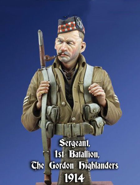 1/10 Scale Resin Bust Building Kit Sergeant Gordon Highlanders
