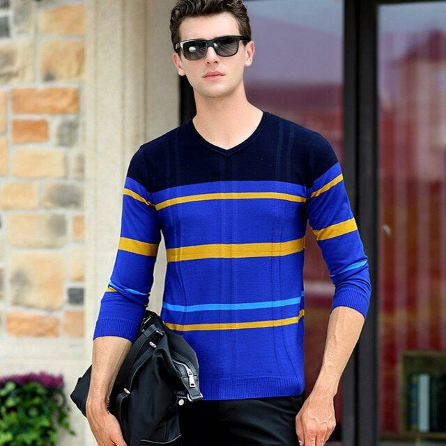 2016 European And American Classic Men's Sweaters Pullovers Fashion Brand  O-Neck Sweater Loose Male Sweater Cashmere Sweater 50