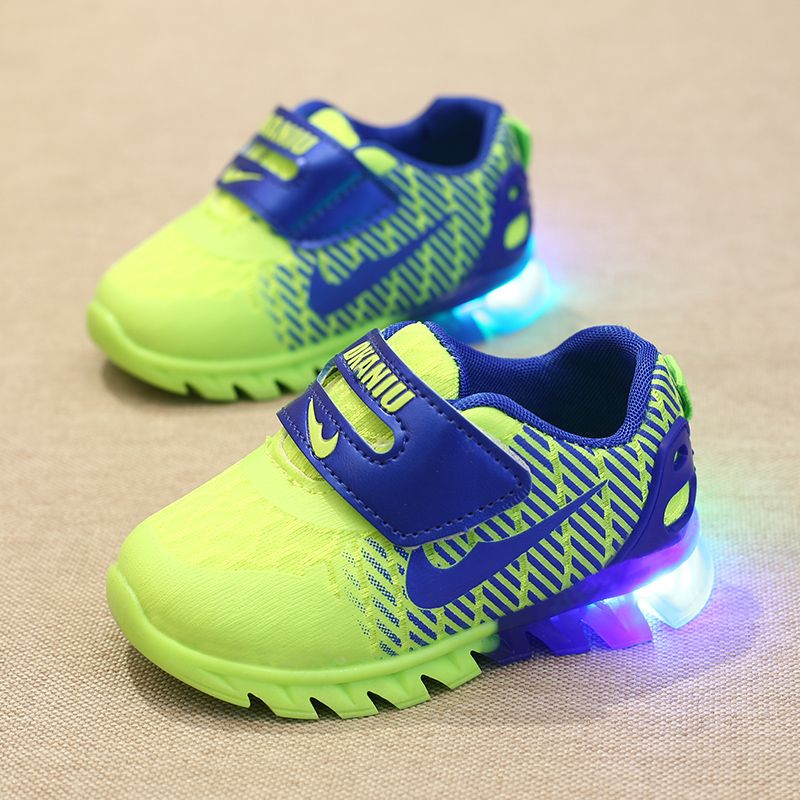 Chaussure Enfant Children Shoes Autumn Breathable Children Shoes With Light Baby Boys Shoes Ssport Led Girls Sneakers Size 22-26