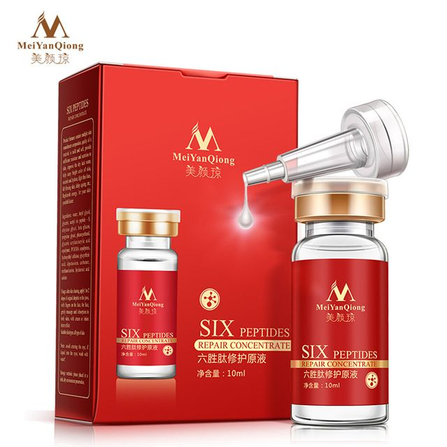 Six Peptides Argireline+aloe vera+collagen rejuvenation anti wrinkle Serum for the face skin care products anti-aging cream