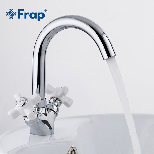 Frap deck mounted dual handle bathroom basin chrome  faucet bath room sink tap hot and cold water mixer torneira F1318