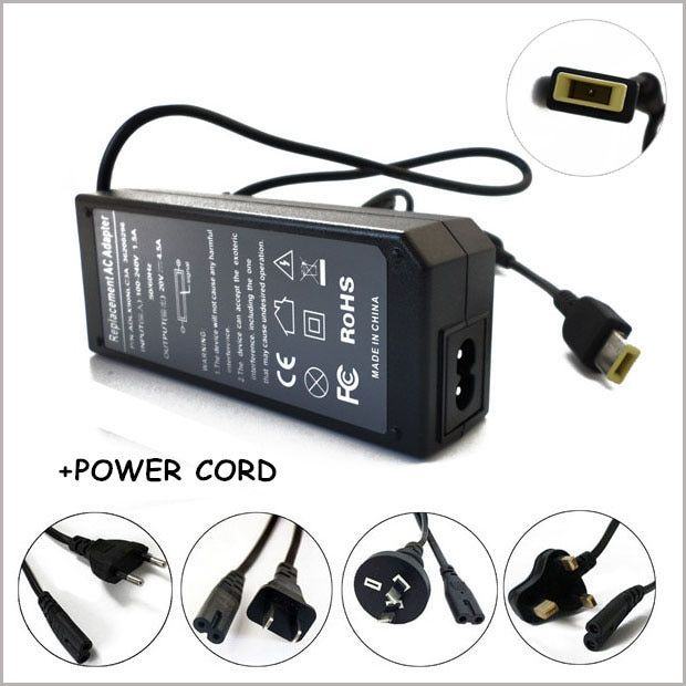 20V 4.5A 90W Laptop AC Adapter Charger Power Supply For Notebook Lenovo Essential G500 G700 G710