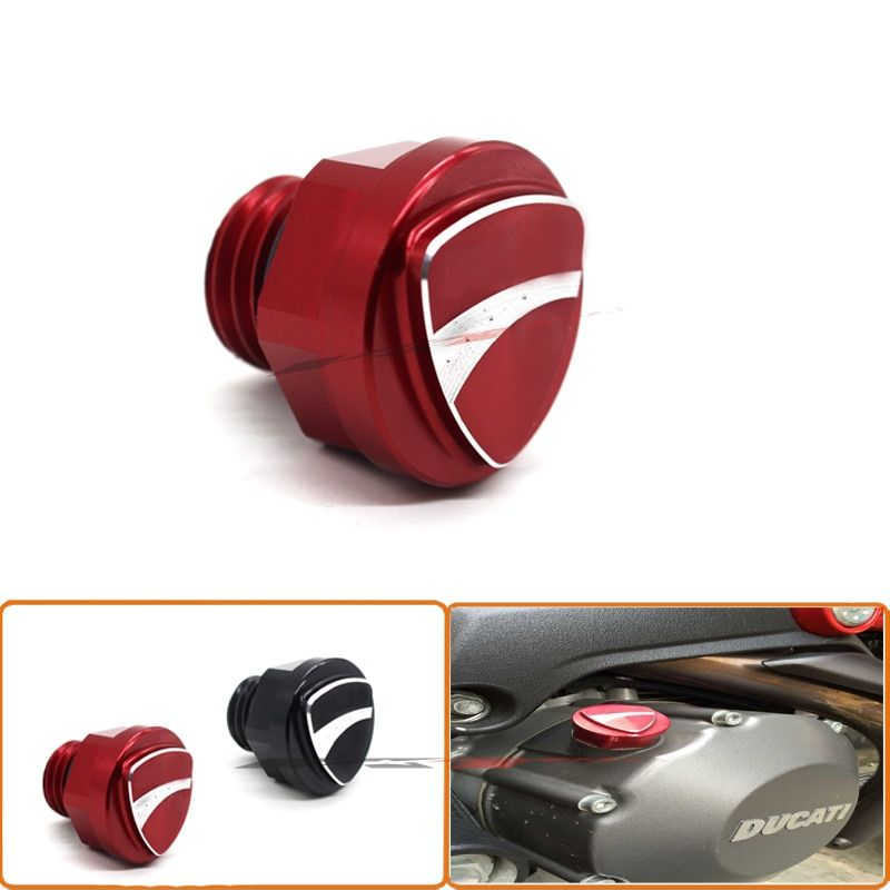 Special Motorcycle Accessories 3D Logo Billet Aluminum Oil Cap Filler Cover Screw For DUCATI MONSTER 696 796 1200/S Red
