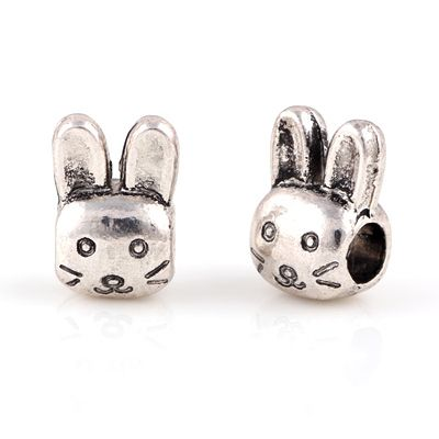 Silver Beads Rabbit shape lovely bead Chamilia Spacer European Murano Czech Bead Charm Fit For Pandora Bracelet Charms