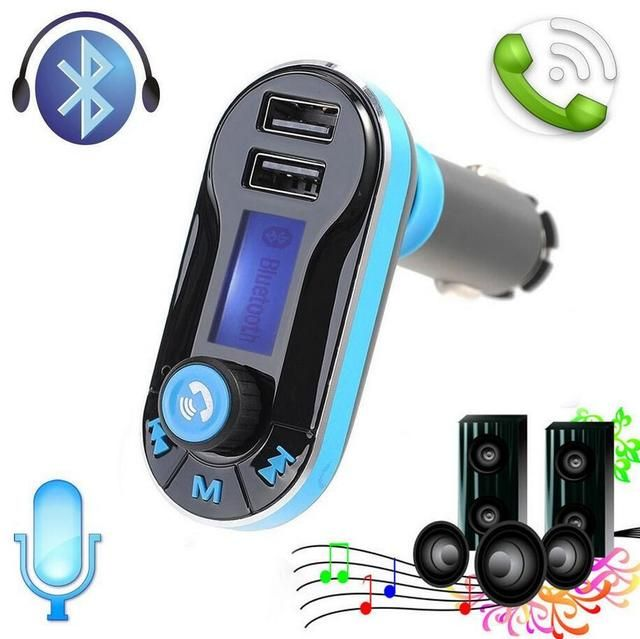 New Smartphone Bluetooth MP3 Player Handsfree Car Kit Dual USB Charger FM Transmitter Handsfree with Micro SD/TF Card Reader
