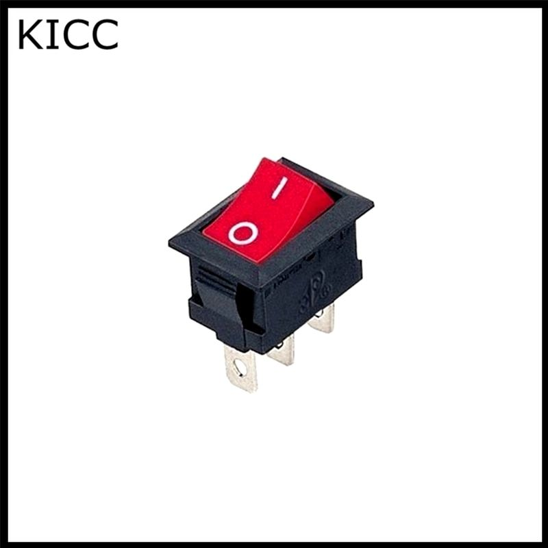 15*21MM Rocker Switch Red KCD1-103 3Pin 2File Seesaw switch Power switch 5Pcs