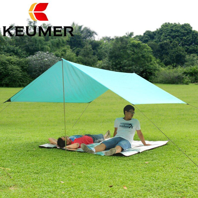 free shipping 2016 Waterproof Canopy Tent Beach Sun Shelter for Fishing Camping UV Block Awning Camping Mat Tarp Shelter 3mx3M