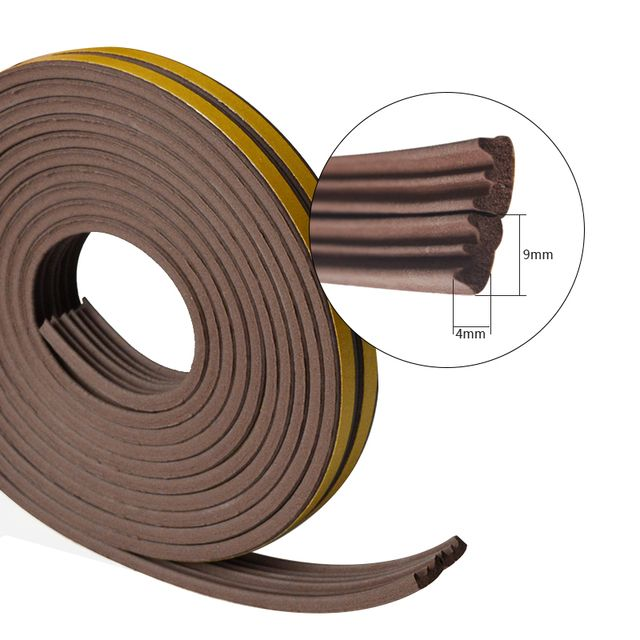 5meters E type Door and Windows seal strip Sound insulation Windows seal strip niose insulation dustproof weatherproof good seal