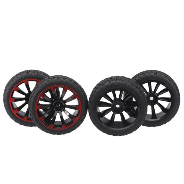 4Pcs 1/10 On-Road Rubber Tyre For HSP Tamiya Losi RC Car Tyre