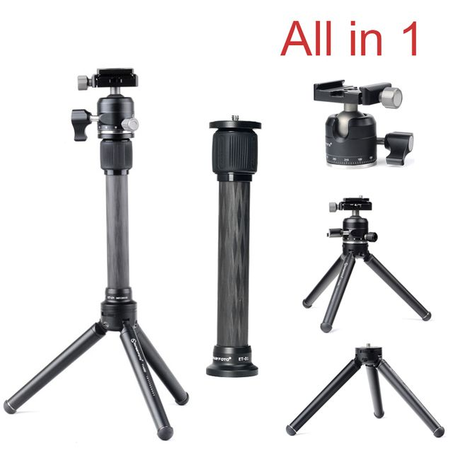Ulanzi Pocket Mini Tabletop Tripod Camera/ Desk Stand Stable Tripod with Ball Head for DSLRs Traveler for Landscape Photographer