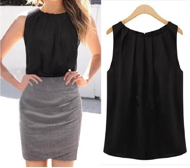 2016 Fashion Charming 1 Piece Hot sexy Women Ladys Casual Vest Tank Tops Sleeveless New Chiffon Summer Blouse