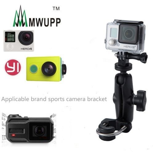 Motorcycle Bike Trolley Handlebar Rail Tripod Holder Mount for Go Pro Hero Action Camera SJCAM Xiaoyi Compatible for RAM Mounts