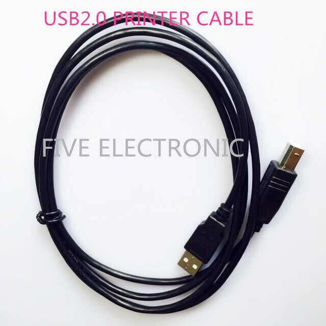 FREE SHIPPING!  USB2.0 Connector Printer Cable(1.5M). High-speed Square opening hard disk cable. for HP Printer Cable