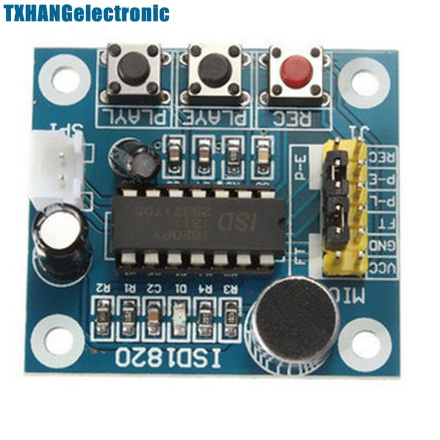 ISD1820 Sound Voice Recording Playback Module With Mic Sound Audio microphone