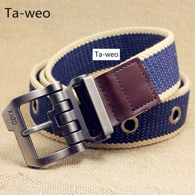 Fashion Casual Men's Canvas Belts For Jeans Pin Buckle Belt For Cowboy Belts Width 3.8CM Belts Size 40