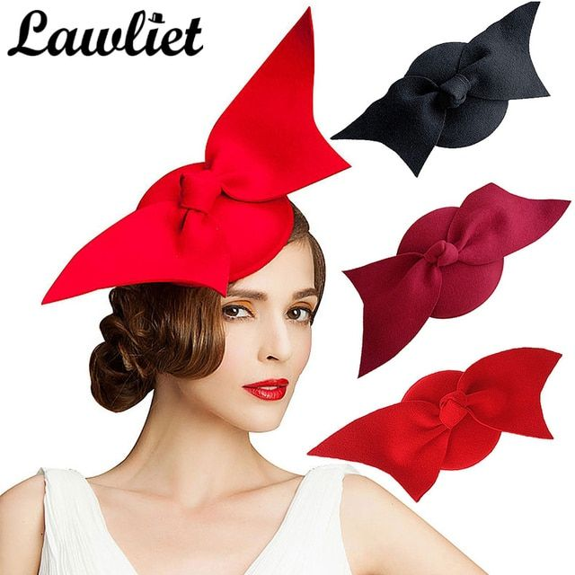 Fascinator Hats Wine Black Red Angel Wing Pure Australian Wool Women Ladies Pillbox Hat Cocktail Formal Race Derby Wedding Hats